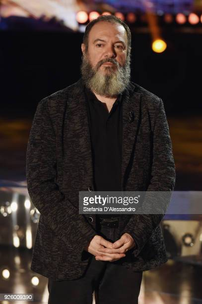 Carlo Lucarelli attends 'E Poi C'e' Cattelan Tv Show' on March 1 2018 in Milan Italy