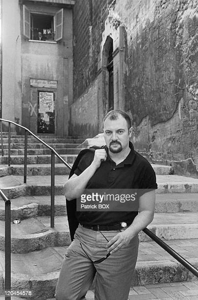 Carlo Lucarelli in Marseille, France in 1998 - Italian writer.