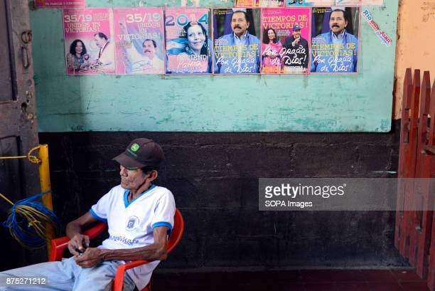 Carlo Manuel Lainez is sitting inside the historical building of the former rebel fighters of the Sandinista revolution in Leon A former rebel...