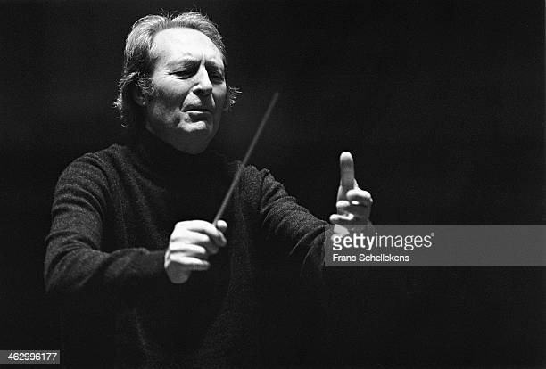 Carlo Maria Giulini, director, performs at the Concertgebouw on 21st November 1989 in Amsterdam, the Netherlands.
