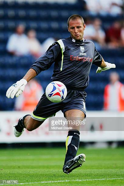 Carlo Nash of Preston during the friendly match between Preston North End and Everton at Deepdale on July 19,2006 in Preston,England.