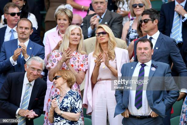 Carlo Nero Joely Richardson Tess Daly Philip Brook and Vernon Kay in the royal box on day two of the Wimbledon Tennis Championships at the All...