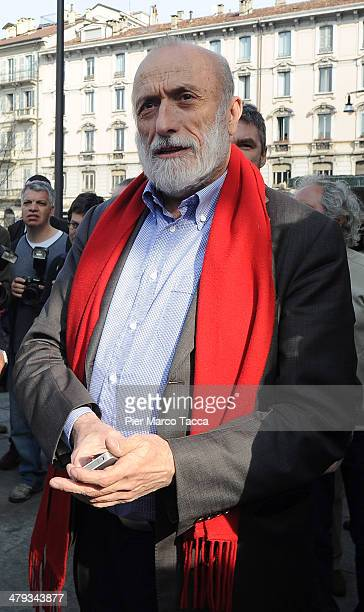 Carlo Petrini founder of the International Slow Food Movement attends the opening ceremony of highend mall and market chain Eataly's new Milan store...