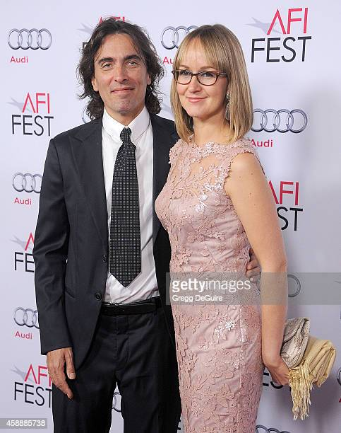 Carlo Ponti Jr and wife Andrea Meszaros Ponti arrive at the AFI FEST 2014 Presented By Audi A Special Tribute To Sophia Loren at Dolby Theatre on...