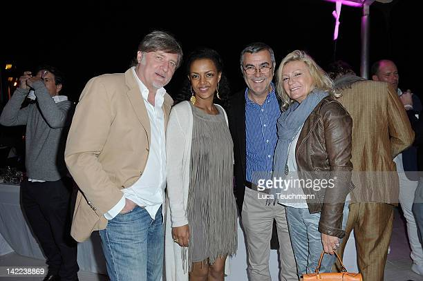 Carlo Rola; Dennenesch Zoude; Norbert Medus and Sabine Christiansen attends the Saisonopening Puro Beach Club at the Puro Beach Club on March 31,...