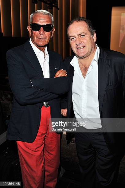 Carlo Rossella and Pascal Vicedomini attend the Gold Lion Lifetime Achievement Awards presented to Marco Bellocchio during The 68th Venice...