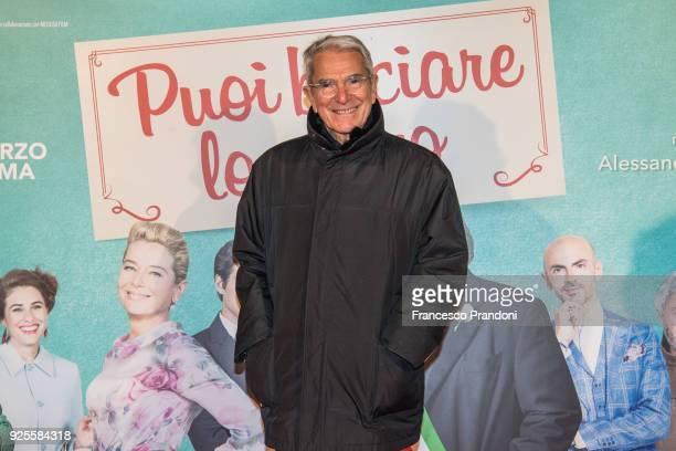 Carlo Rossella attends a photocall for 'Puoi Baciare Lo Sposo' on February 28 2018 in Milan Italy
