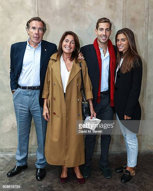 Carlo Sama Alessandra Ferruzzi Guglielmo Sama and Carolina Nizza attend the Isa Arfen presentation during London Fashion Week Spring/Summer...