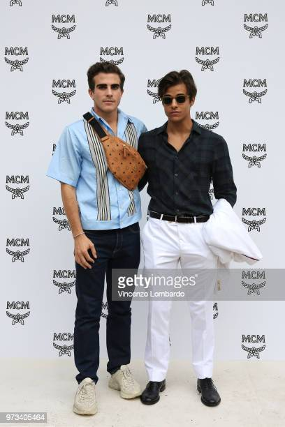 Carlo Sestini and Michele Merlo attend the MCM Fashion Show Spring/Summer 2019 during the 94th Pitti Immagine Uomo on June 13 2018 in Florence Italy