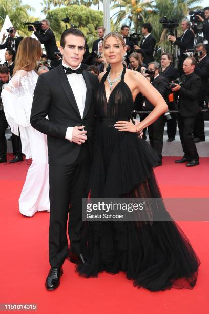 Carlo Sestini and Veronica Ferraro attend the screening of Oh Mercy during the 72nd annual Cannes Film Festival on May 22 2019 in Cannes France
