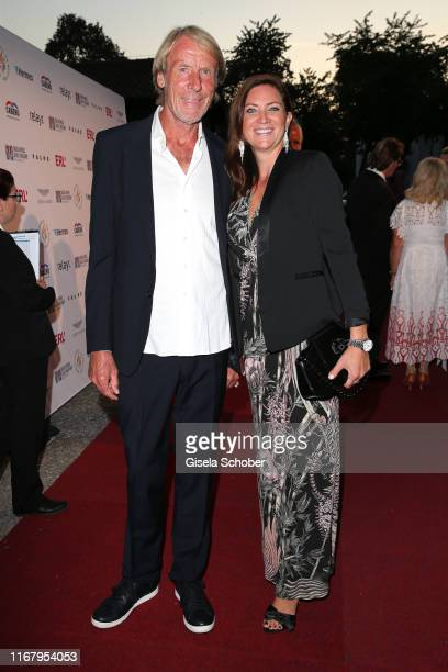 Carlo Thraenhardt and his girlfriend Stefanie Pregitzer during the EAGLES Praesidenten Golf Cup Gala Evening on September 13 2019 in Bad Griesbach...