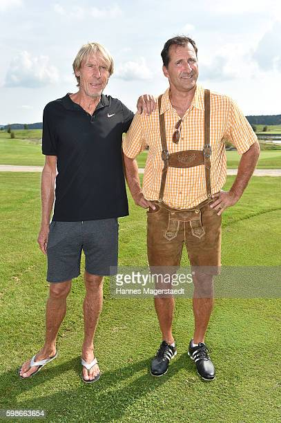 Carlo Traenhardt and Lars Riedel during the 5th Lederhos'n Cup on September 2 2016 in Valley near Holzkirchen Germany