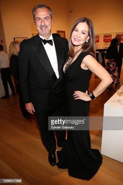 Carlo Traglio and Judith Giuliani attend VHERNIER 20 Years Of Calla Dinner In Support Of BCRF at Sotheby's on October 17 2018 in New York City