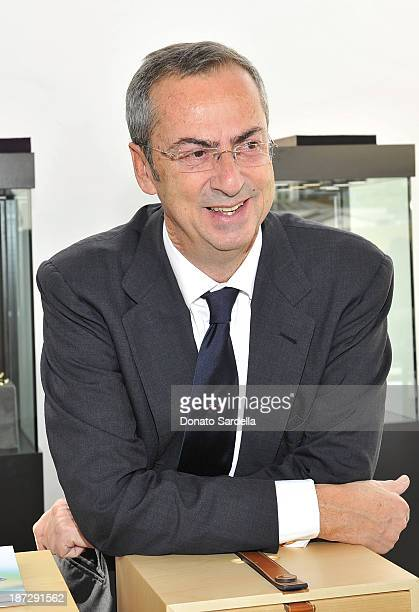 Carlo Traglio CEO of Vhernier attends Vhernier luncheon hosted by Jennifer Hale from C Magazine at Gagosian Gallery on November 7 2013 in Beverly...