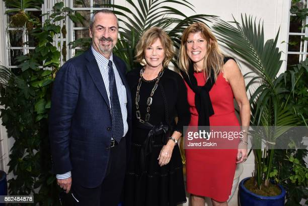 Carlo Traglio Kathi Koll and Michele Heary attend QUEST VHERNIER Host Luncheon at MAJORELLE at Majorelle on October 17 2017 in New York City
