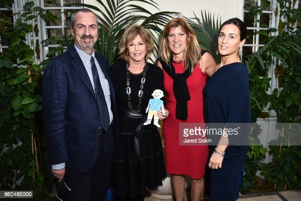 Carlo Traglio Kathi Koll Michele Heary and Cristiana Vigano attend QUEST VHERNIER Host Luncheon at MAJORELLE at Majorelle on October 17 2017 in New...
