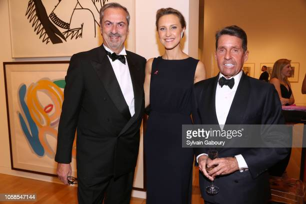 Carlo Traglio Kinga Lampert and Chris Meigher attend VHERNIER 20 Years Of Calla Dinner In Support Of BCRF at Sotheby's on October 17 2018 in New York...