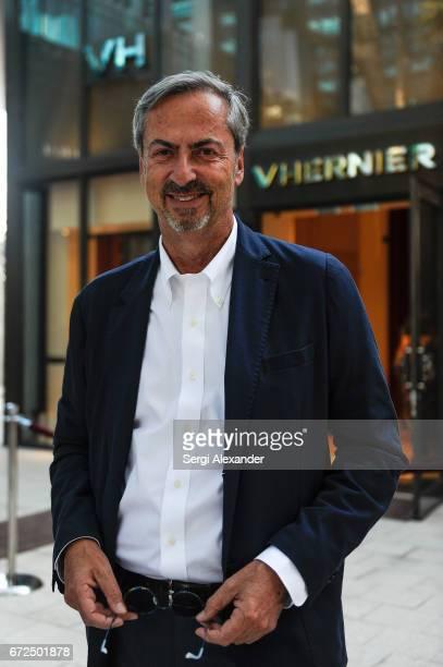 Carlo Traglio President of Vhernier attends the Vhernier launch with Andrea Bocelli in Design District on April 24 2017 in Miami Florida
