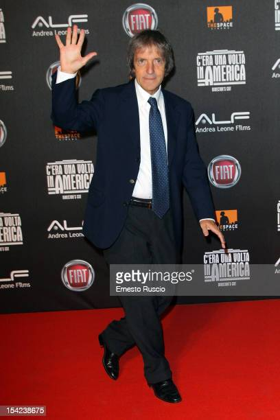 Carlo Vanzina attends the 'C'era Una Volta In America Director's Cut' premiere at Space Moderno on October 16 2012 in Rome Italy