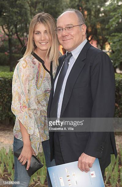 Carlo Verdone and daughter Giulia arrive at the 2010 Globo D'Oro Awards at Villa Massimo on July 1, 2010 in Rome, Italy.