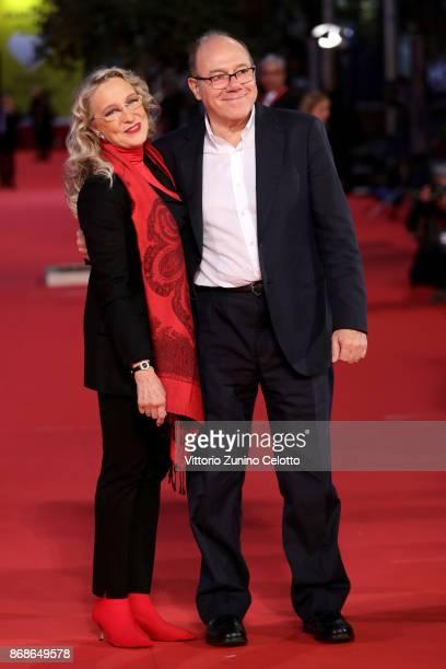 Carlo Verdone and Eleonora Giorgi walk a red carpet for 'Borotalco' during the 12th Rome Film Fest at Auditorium Parco Della Musica on October 31,...