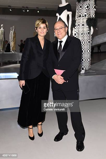 Carlo Verdone and Giulia Verdone attend the Bulgari Gala Dinner Exhibition at Maxxi Museum on November 29 2014 in Rome Italy