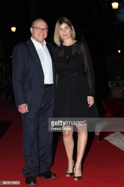 Carlo Verdone and Giulia Verdone attend the Vanity Fair party during the 86th Concorso Ippico Internazionale Piazza Di Siena at Villa Borghese on May...