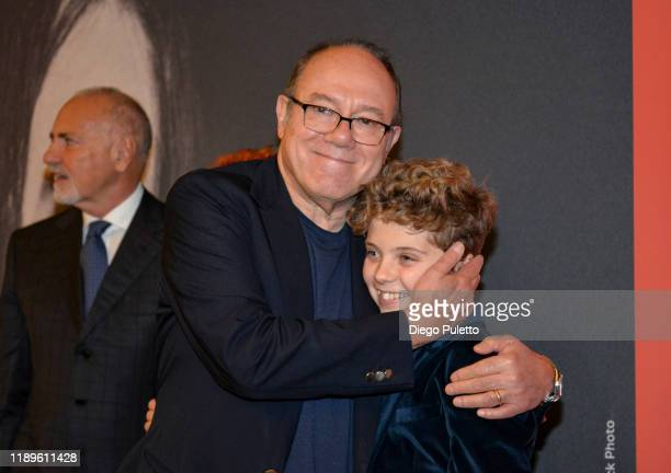 Carlo Verdone and Roman Griffin Davis attend the Opening Ceremony for the 37th Torino Film Festival on November 22, 2019 in Turin, Italy.