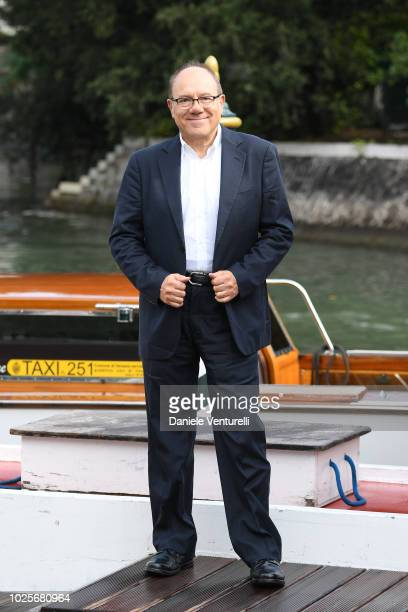 Carlo Verdone is seen during the 75th Venice Film Festival on September 1 2018 in Venice Italy