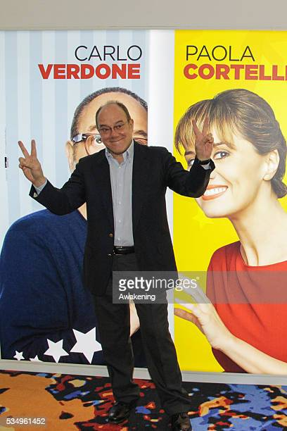 Carlo Verdone promotes his new movie 'Sotto una buona stella' at the IMG cinema in Mestre Venezia - Italy