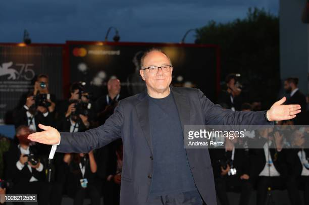 Carlo Verdone walks the red carpet ahead of the 'The Sisters Brothers' screening during the 75th Venice Film Festival at Sala Grande on September 2...