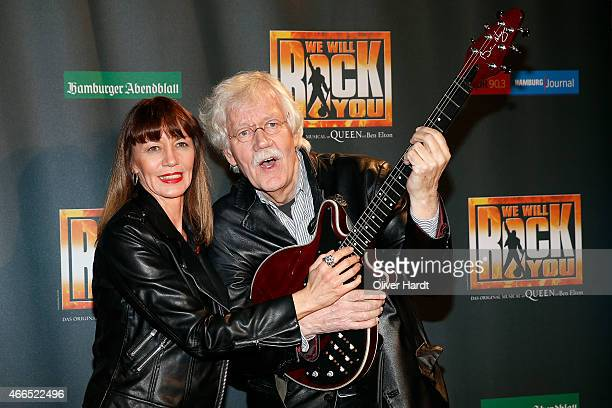 Carlo von Thiedemann and Julia Laubrunn poses during the premiere of the musical 'We Will Rock You' on March 16, 2015 in Hamburg, Germany.