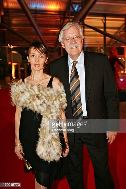 Carlo Von Tiedemann And girlfriend Julia Laubrunn On The Zdf Hansetreff In the New Airport Terminal in Hamburg 100305.