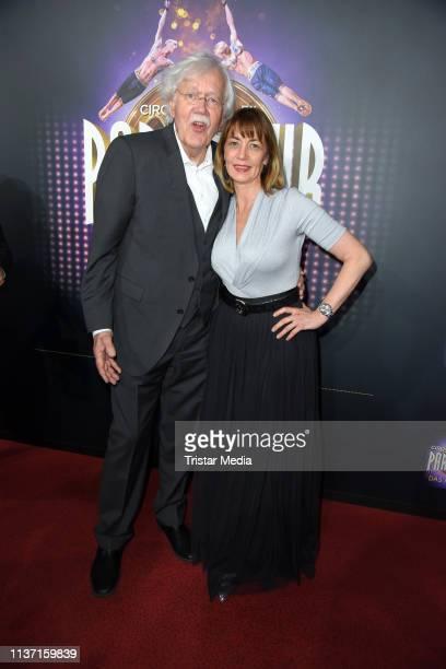 Carlo von Tiedemann and his wife Julia Laubrunn attend the Cirque du Soleil 'Paramour Das Musical' premiere on April 14 2019 in Hamburg Germany