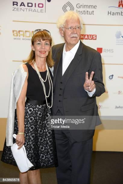 Carlo von Tiedemann and his wife Julia Laubrunn attend the Deutscher Radiopreis at Elbphilharmonie on September 7, 2017 in Hamburg, Germany.