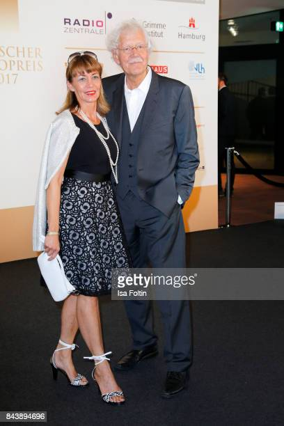 Carlo von Tiedemann and his wife Julia Laubrunn attend the 'Deutscher Radiopreis' at Elbphilharmonie on September 7, 2017 in Hamburg, Germany.