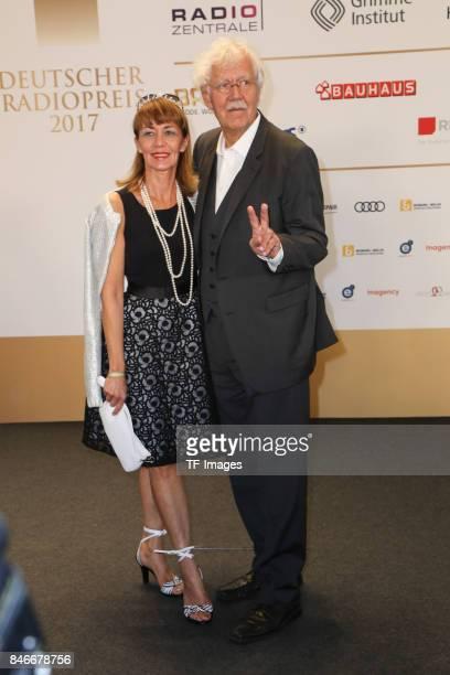 """Carlo von Tiedemann and Julia Laubrunn attend the Deutscher Radiopreis at Elbphilharmonie on September 7, 2017 in Hamburg, Germany. """"n"""