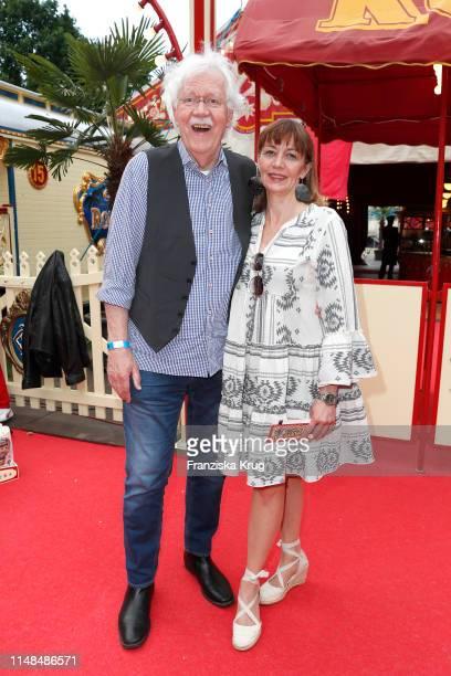 Carlo von Tiedemann and Julia Laubrunn during Circus Roncalli Gala at Moorweide Park on June 7, 2019 in Hamburg, Germany.