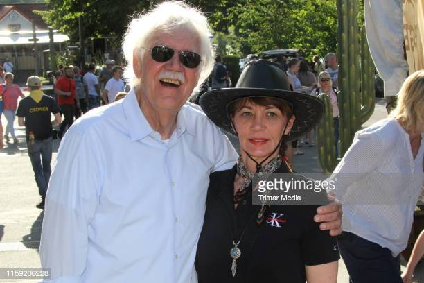 Carlo von Tiedemann and Julia Laubrunn during the premiere of the Karl May Festival on June 29, 2019 in Bad Segeberg, Germany.