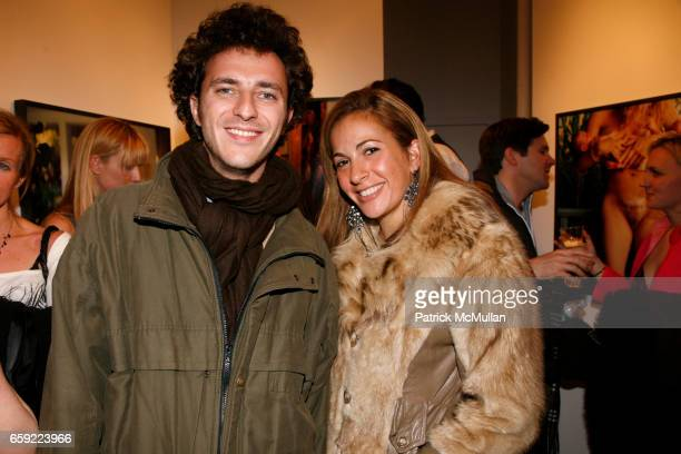 Carlo Zeitschel and Tina Livanos attend Opening reception for ANDREA TESE Boats Against the Current at Heist Gallery on February 13 2009 in New York...