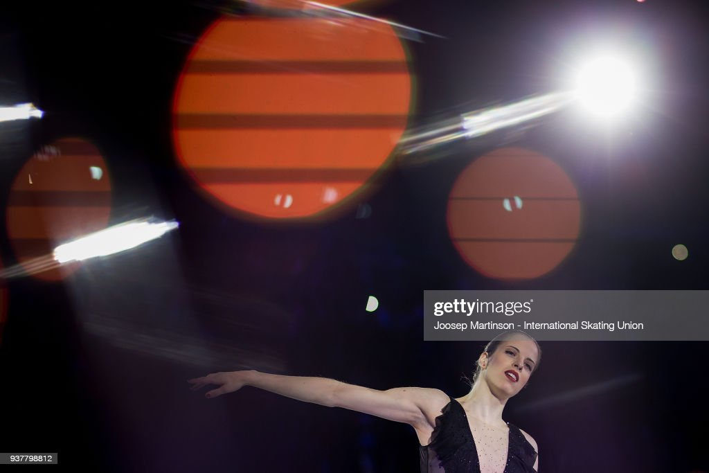 Carlolina Kostner of Italy performs in the Gala Exhibition during day five of the World Figure Skating Championships at Mediolanum Forum on March 25, 2018 in Milan, Italy.