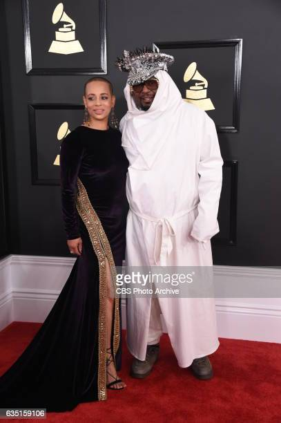 Carlon ThompsonClinton and George Clinton on the Red Carpet at THE 59TH ANNUAL GRAMMY AWARDS broadcast live from the STAPLES Center in Los Angeles...