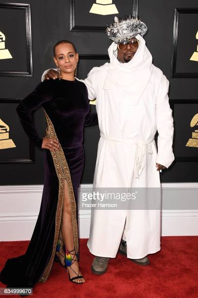 Carlon ThompsonClinton and musician George Clinton attend The 59th GRAMMY Awards at STAPLES Center on February 12 2017 in Los Angeles California