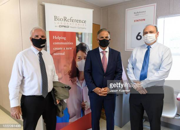 Carlos A Gimenez Carlos Acosta and Juan Carlos Bermudez attend BioReference Laboratories hosts Grand Opening of COVID19 Antibody Testing Collection...