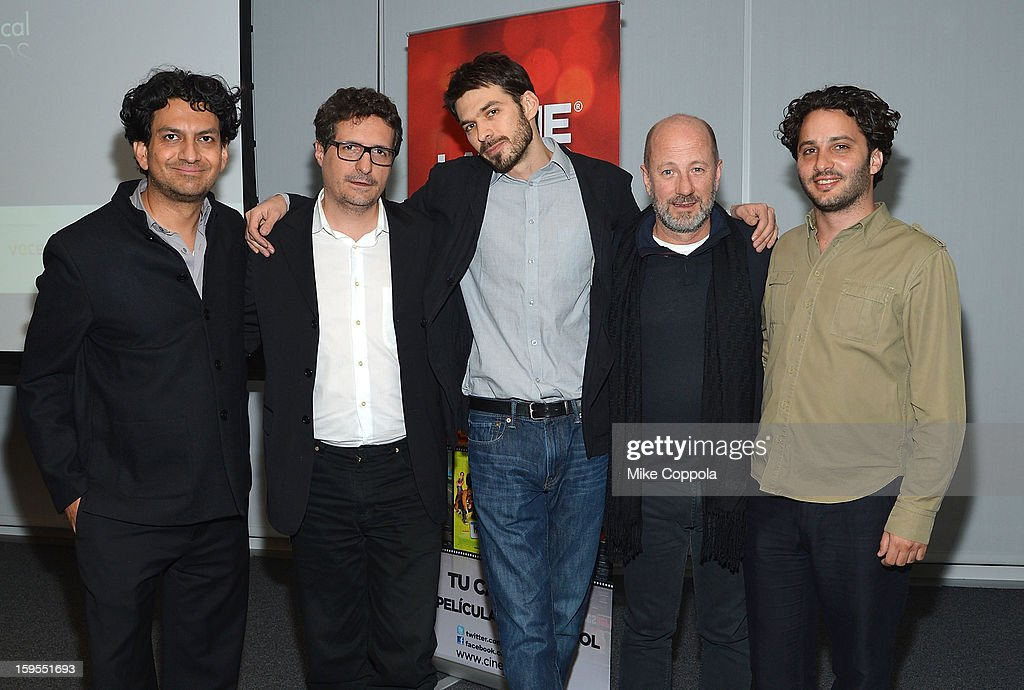 Carlos A Gutierrez, and film directors Kleber Mendonca, Matias Meyer, Jose Alvarez, Gaston Solnicki attend 3rd Annual Cinema Tropical Awards at The New York Times Headquarters on January 15, 2013 in New York City.