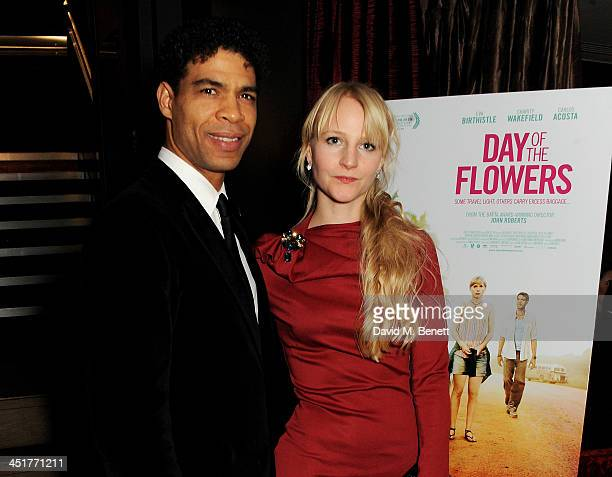 Carlos Acosta and Charlotte Holland attend an after party celebrating the UK Premiere of Day Of The Flowers at The Mayfair Hotel on November 24 2013...
