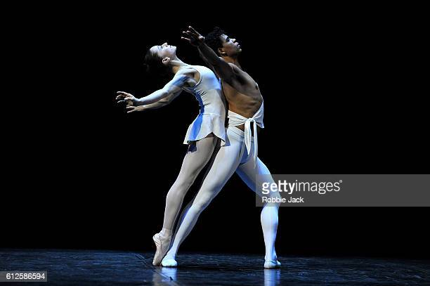 Carlos Acosta and Marianela Nunez in George Balanchine's Apollo at the Royal Albert Hall on October 3 2016 in London England