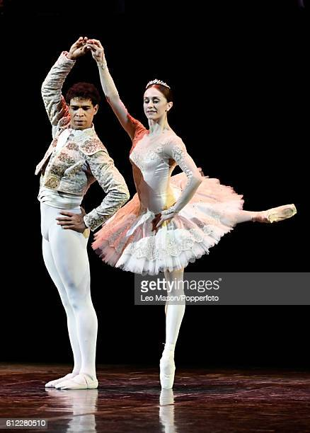 Carlos Acosta and Marianela Nunez perform a scene from Don QuixotePas de Deux at the dress reherasal of Carlos Acosta The Classical Farewell at Royal...