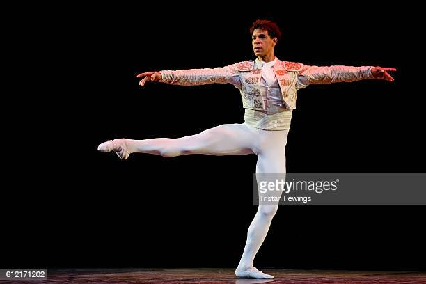 Carlos Acosta performs a scene from Don Quixote at the dress reherasal of Carlos Acosta The Classical Farewell at Royal Albert Hall on October 3 2016...