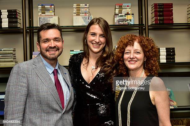 Carlos Aguilar Leah Lane and Michelle Friedman attend the Core Club A Celebration For Leah Lane at The Core Club on June 15 2016 in New York City
